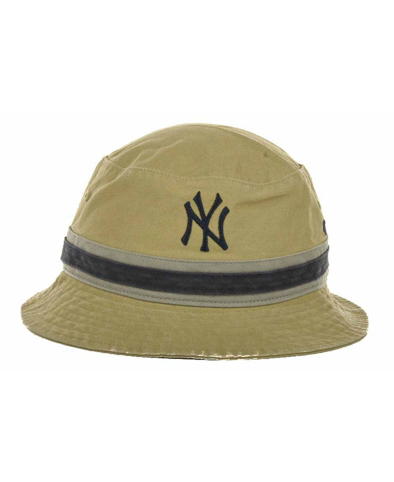 d8931cfb305ac 47 Brand New York Yankees Striped Bucket Hat in Natural - Lyst