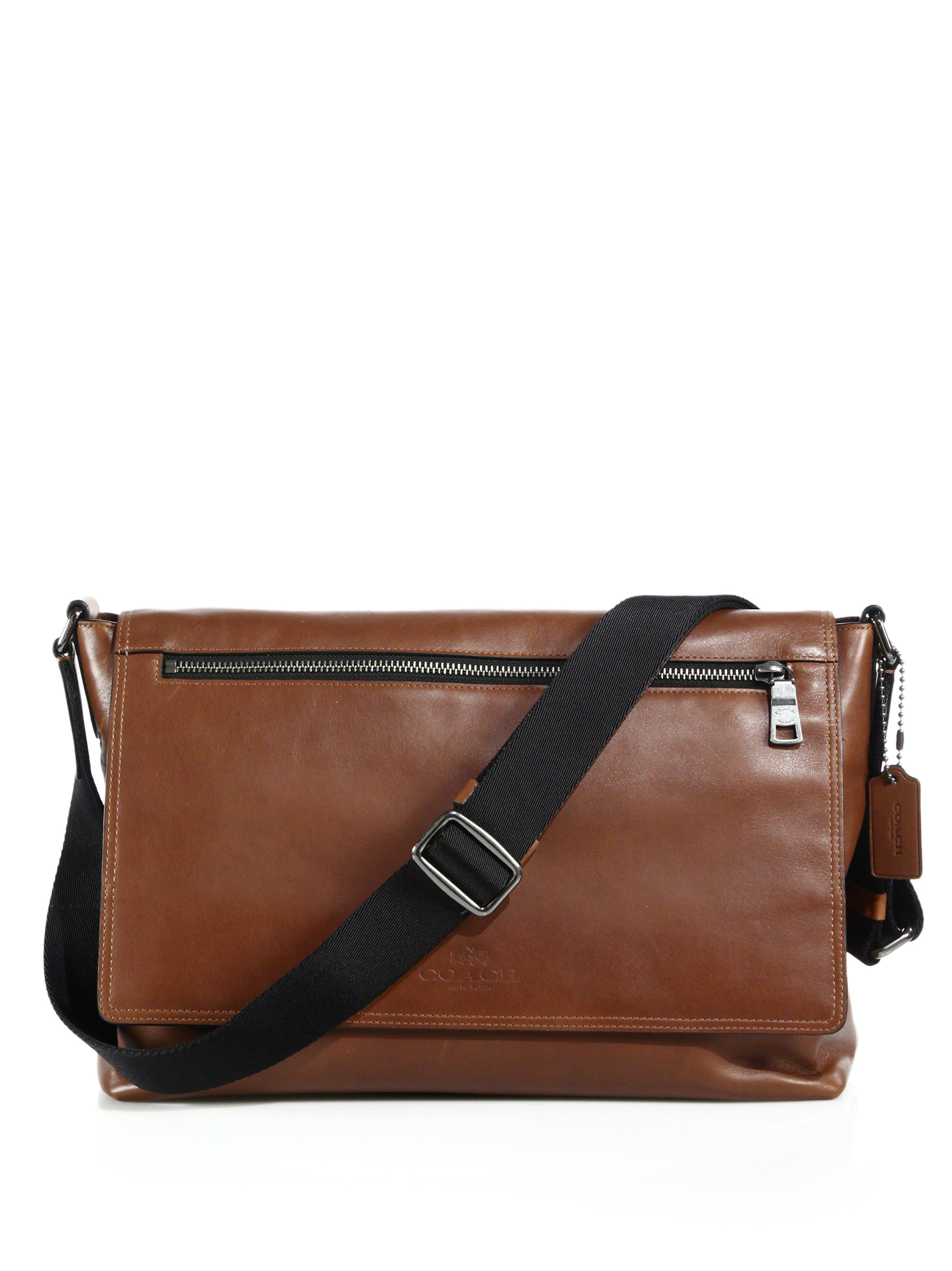 Coach Sullivan Leather Messenger Bag In Brown For Men Lyst