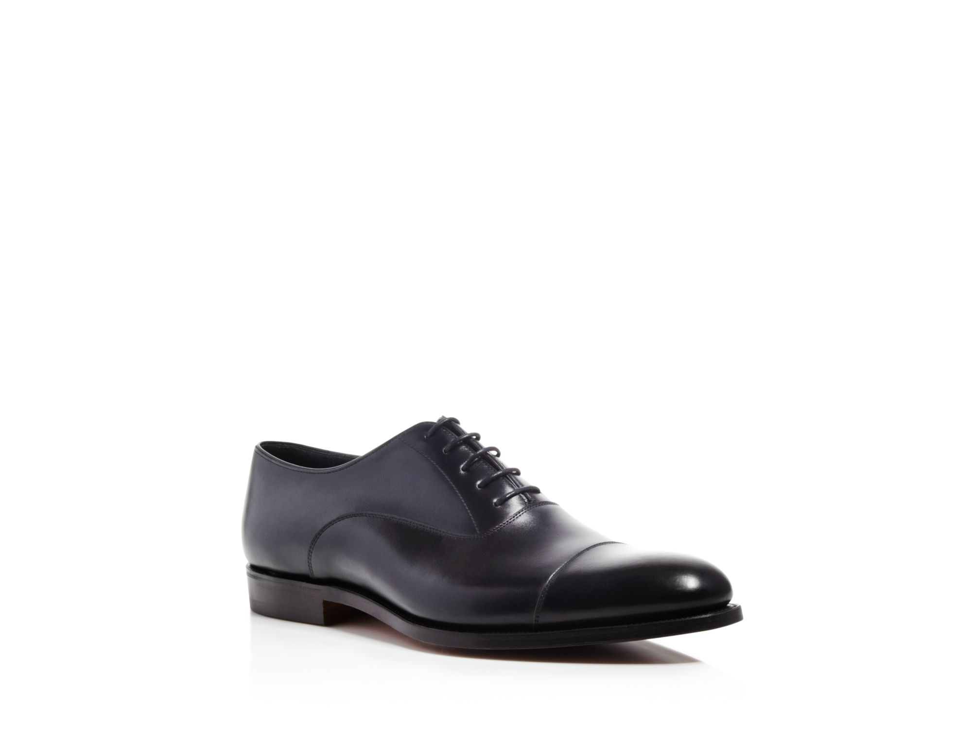 Lyst - Alfred Sargent Derby Cap Toe Oxfords in Black for Men 9c60d5be6795