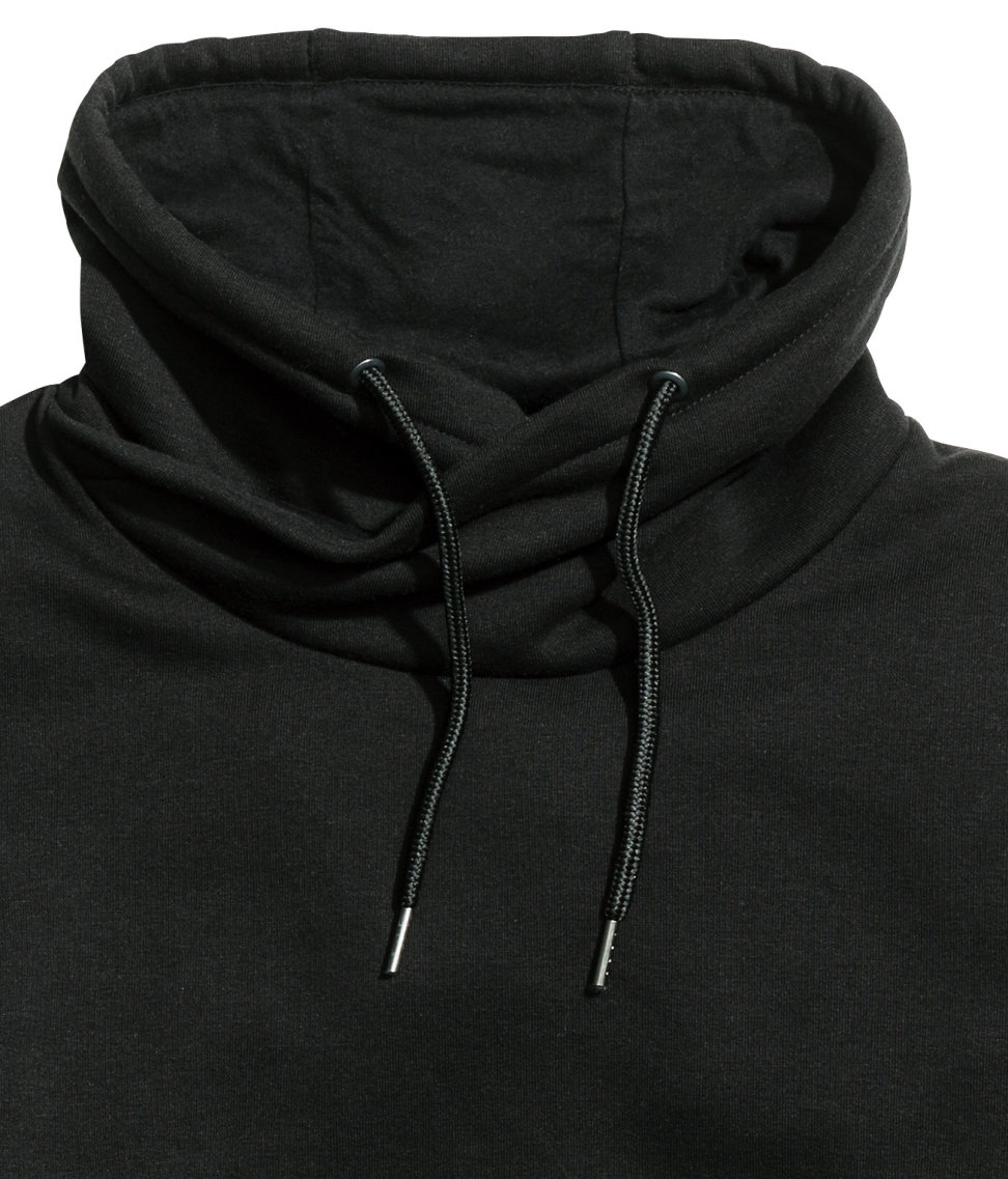 H Amp M Funnel Collar Sweatshirt In Black For Men Lyst