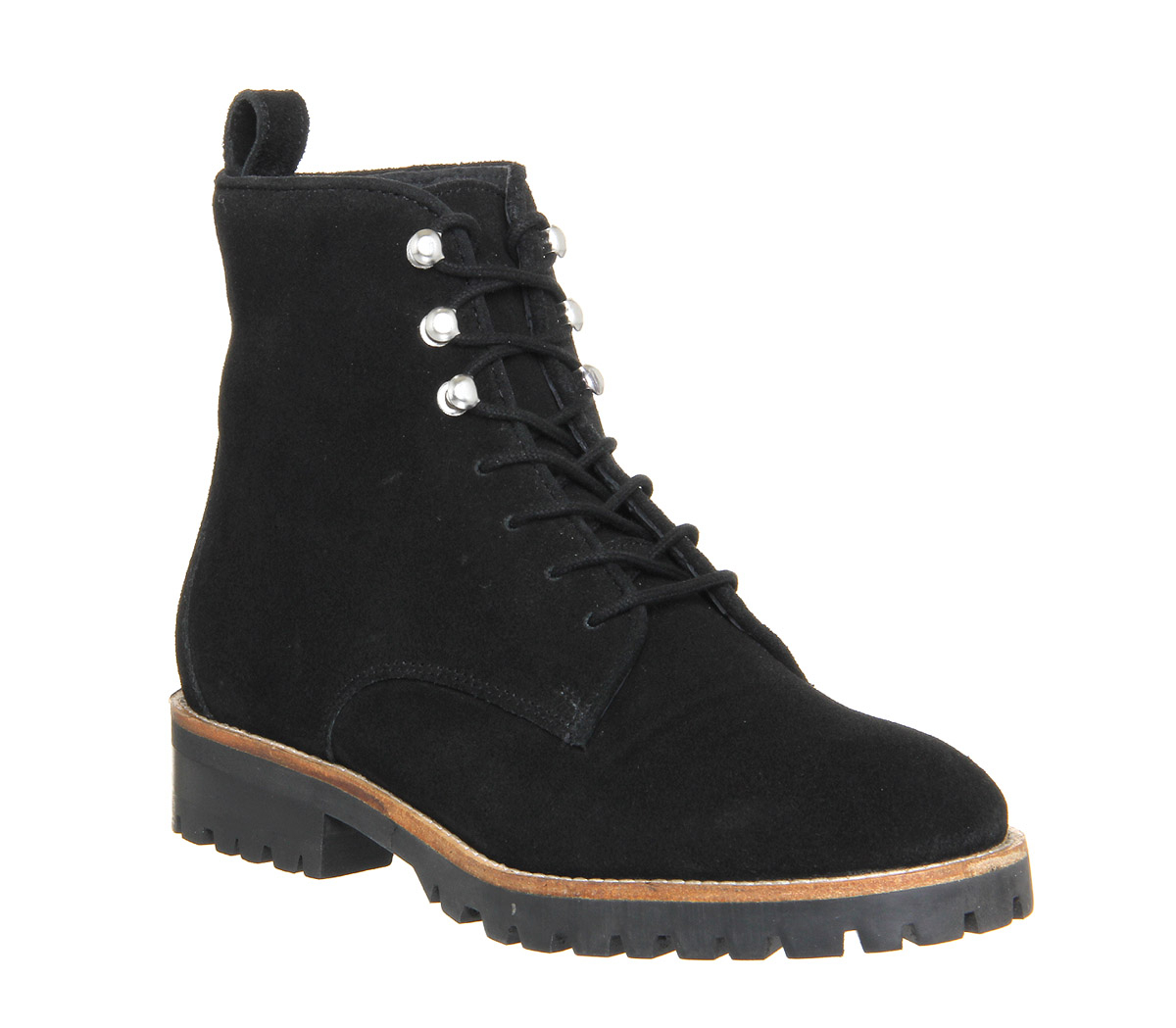 office forest lace up work boots in black lyst