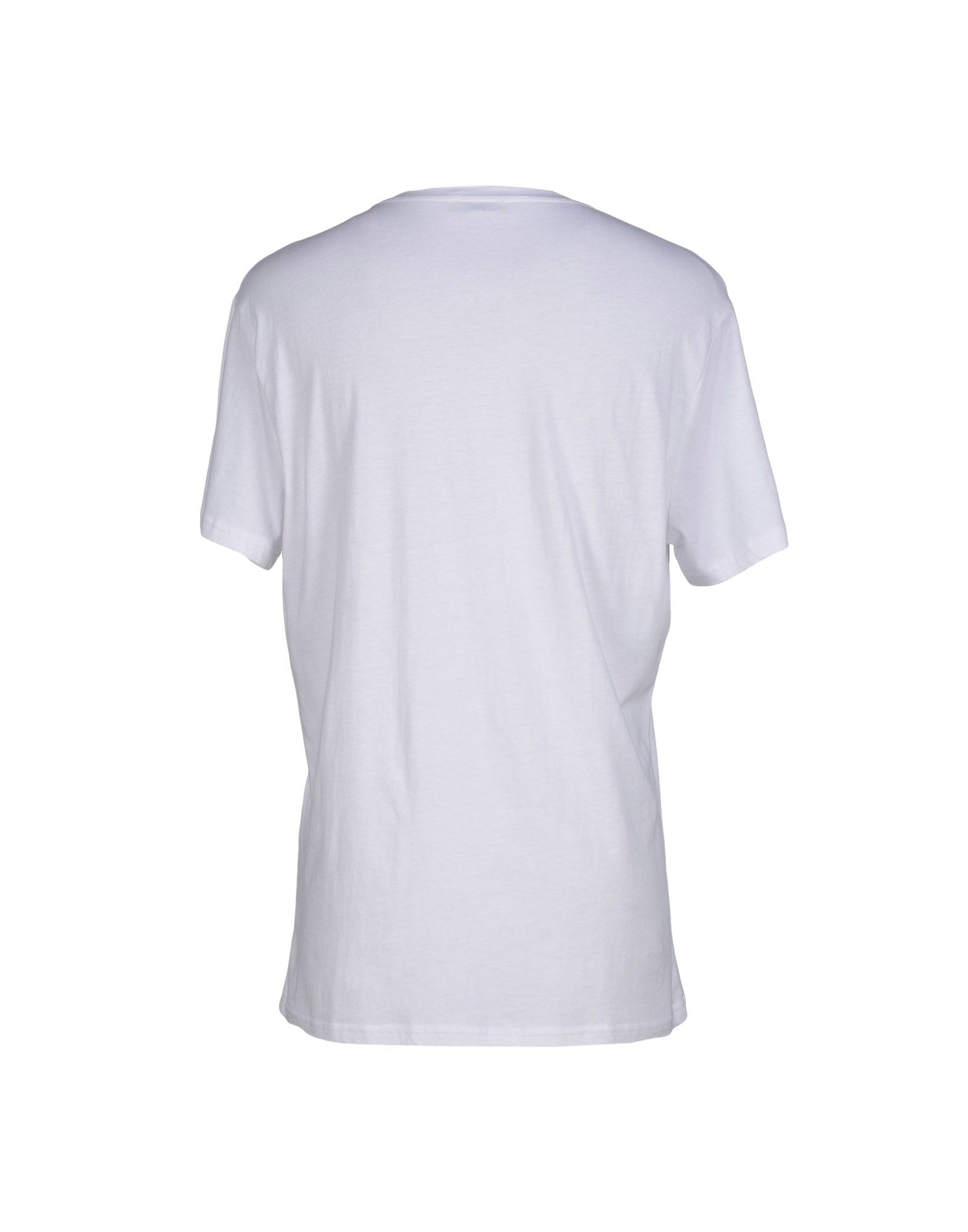 Versace jeans t shirt in white for men save 39 lyst for Blue and white versace shirt