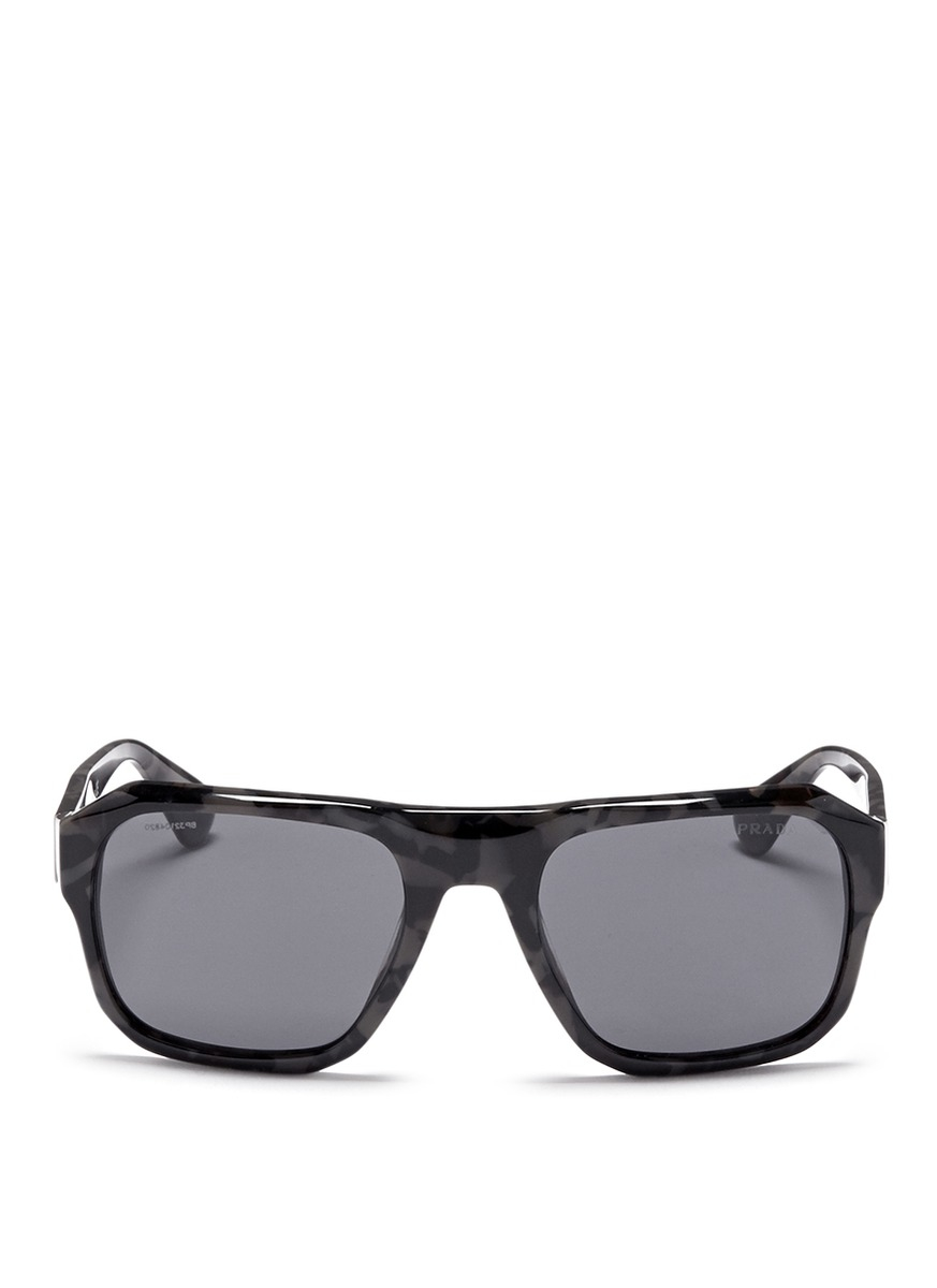 6b18ed969dd9 ... best lyst prada faceted camouflage acetate sunglasses in black for men  4ade2 09bb8