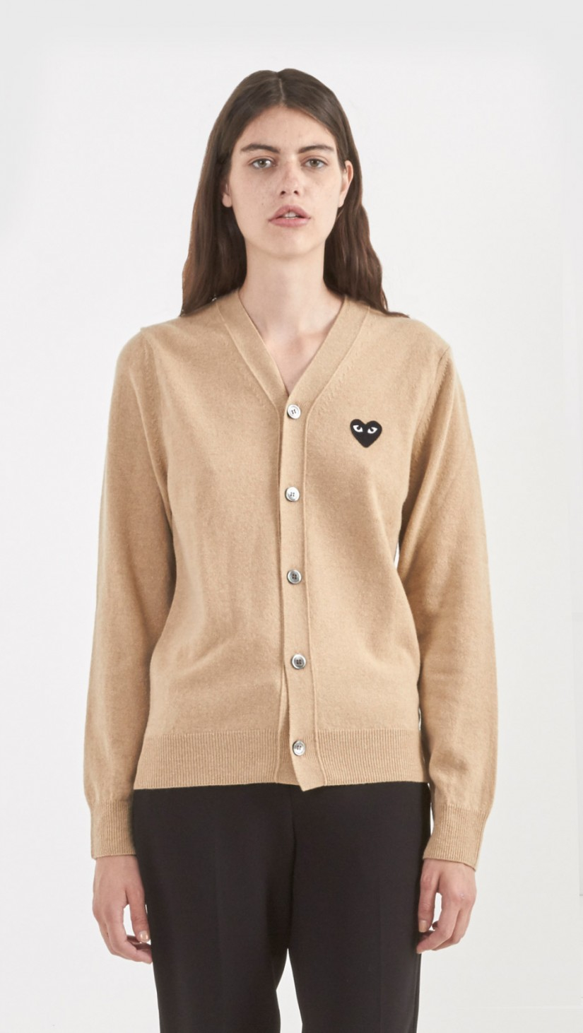 Play comme des garçons Cardigan in Natural | Lyst