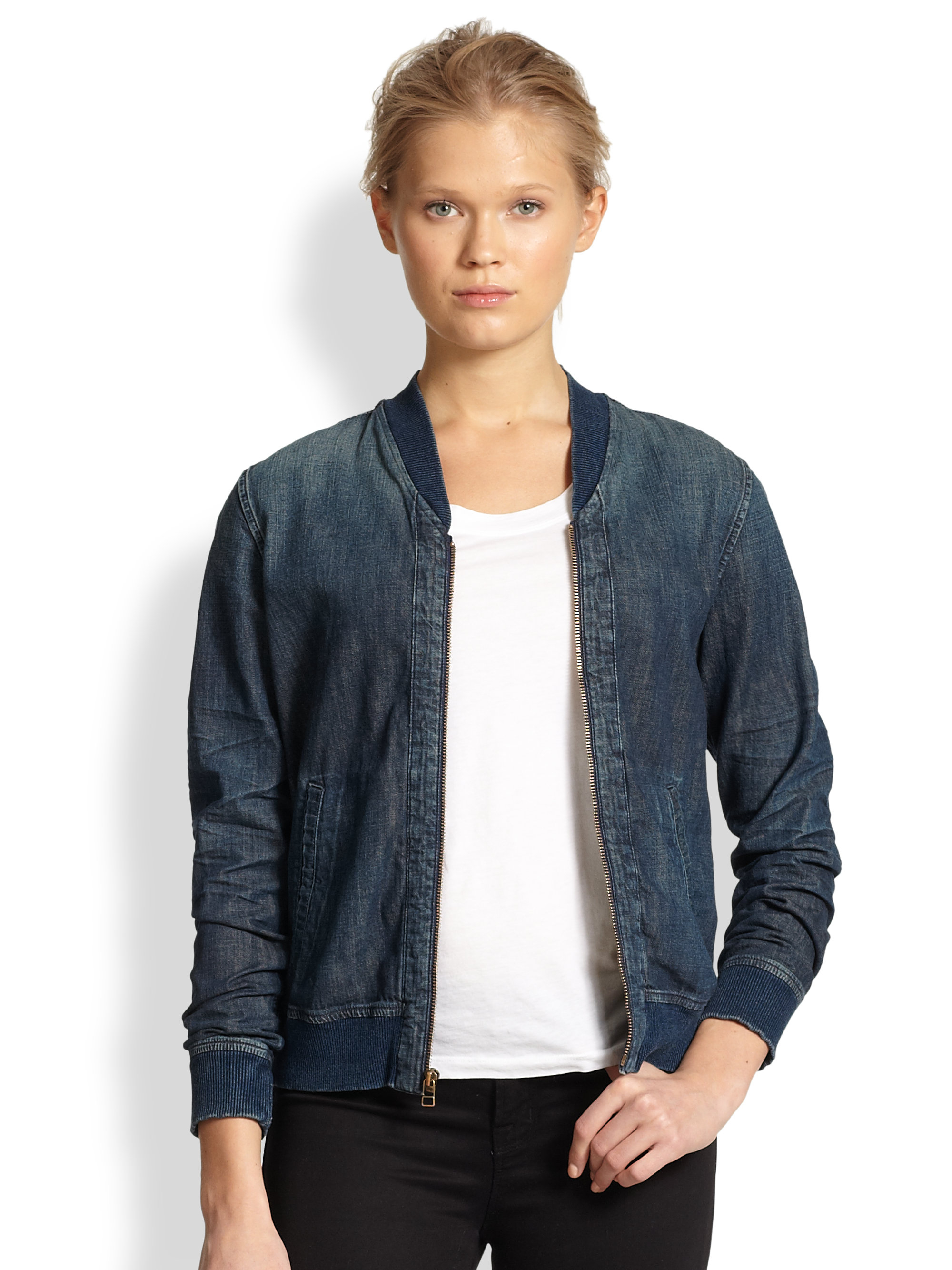 Bomber jacket denim – Modern fashion jacket photo blog
