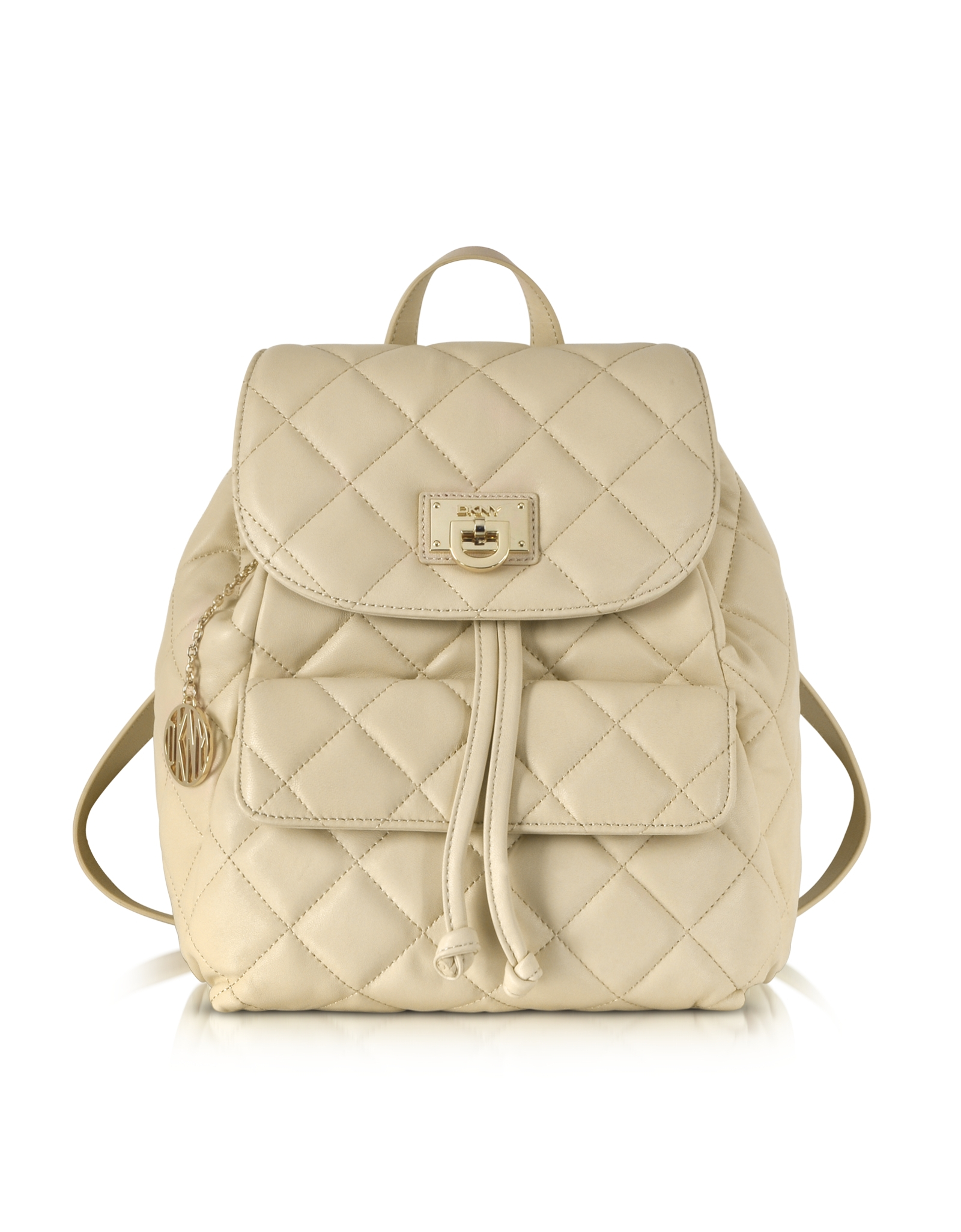Lyst - Dkny Gansevoort Quilted Nappa Leather Backpack in Natural : dkny quilted rucksack - Adamdwight.com