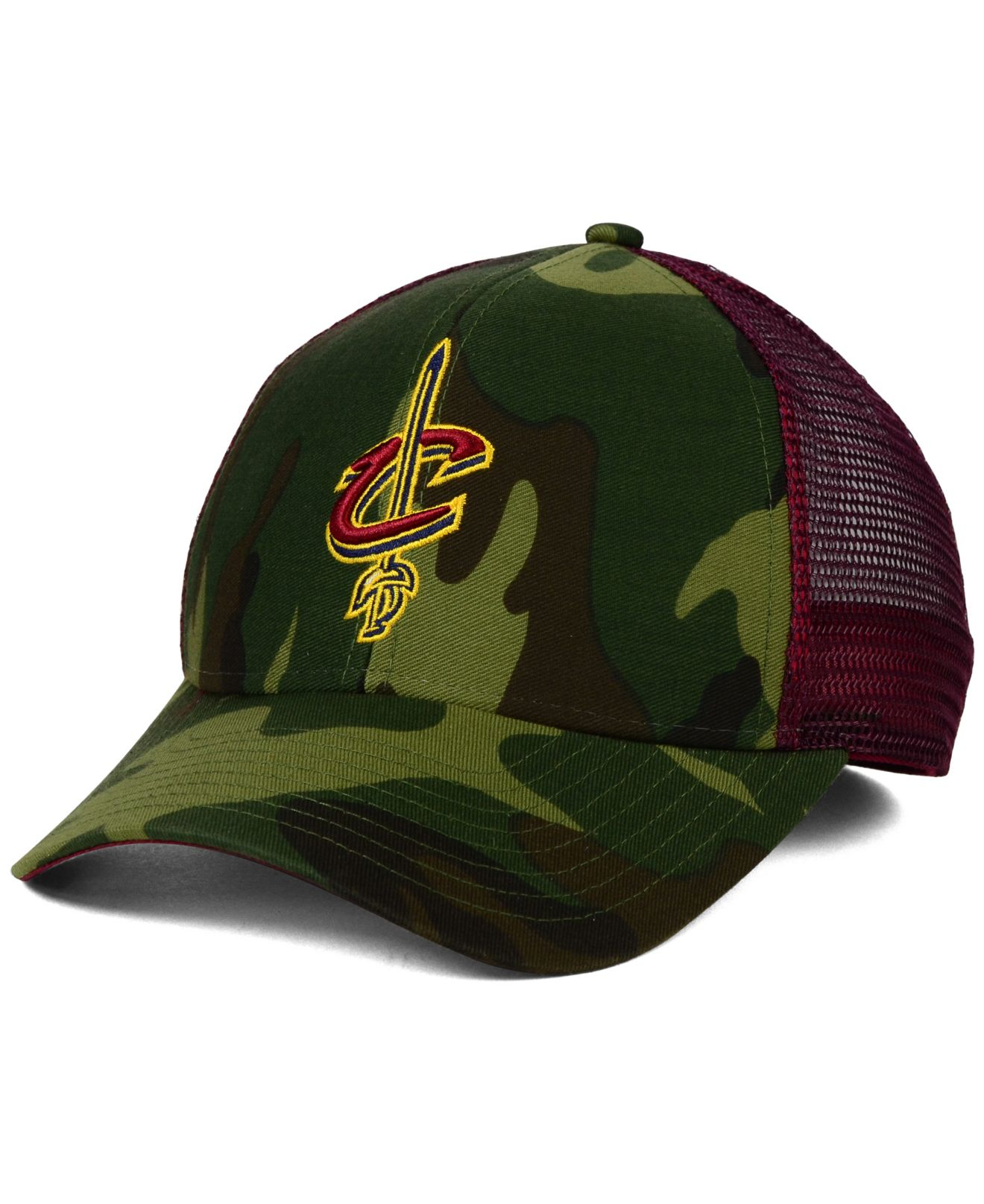 00af64ed520 Lyst - adidas Cleveland Cavaliers Camo Trucker Cap in Green for Men