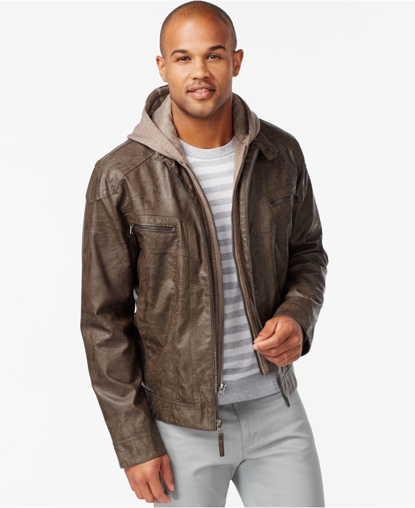 Lyst - Calvin Klein Calvin Klein Big & Tall Faux Leather ...