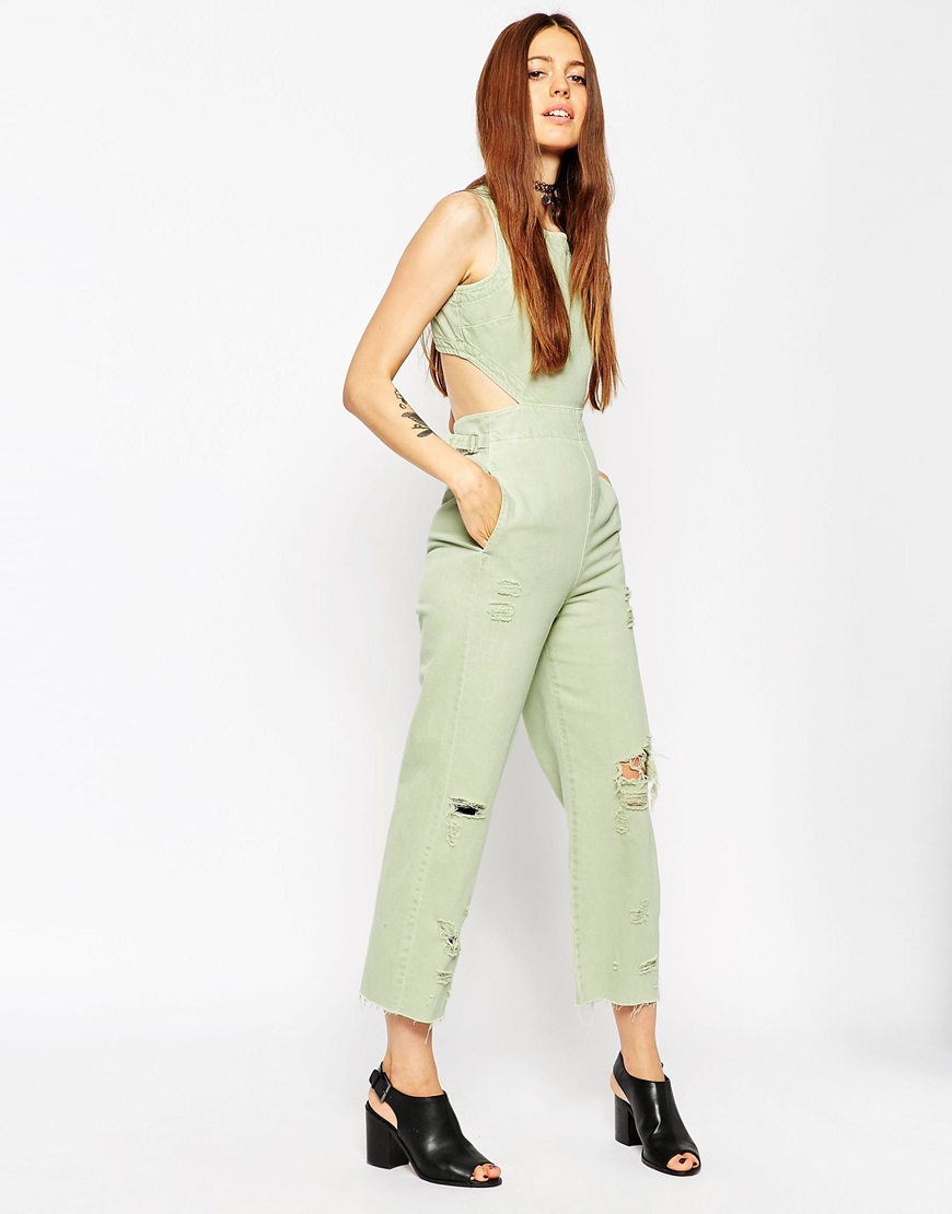 3f60ab8883 Asos White Denim Jumpsuit