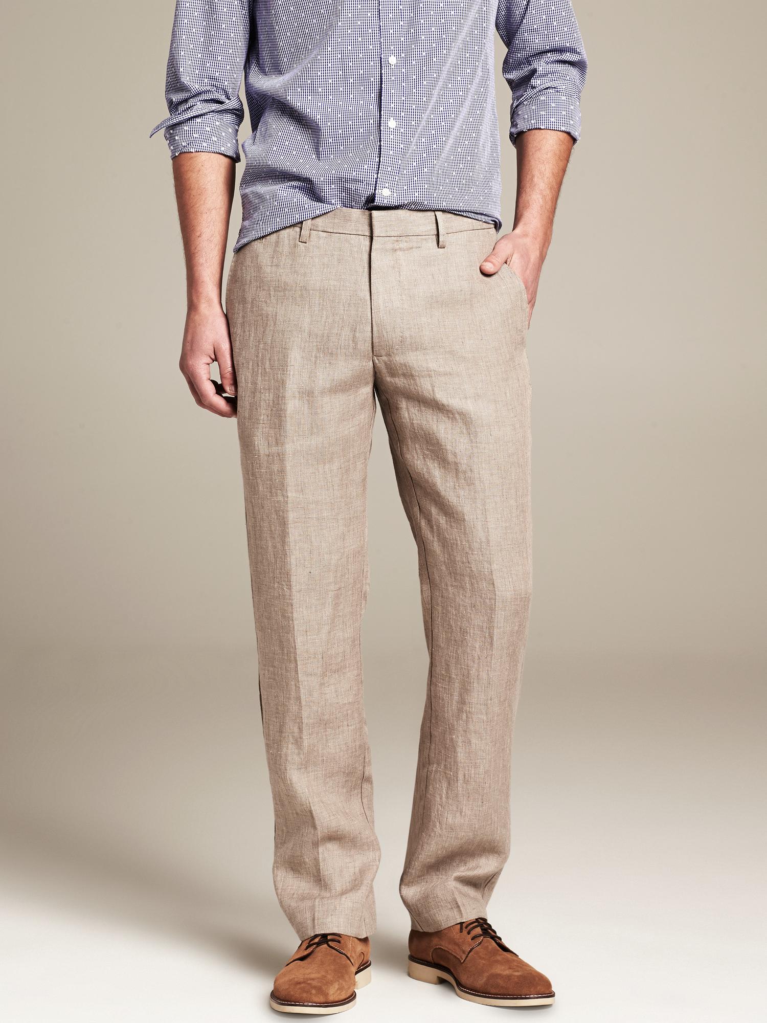 Lyst Banana Republic Heritage Linen Pant In Natural For Men