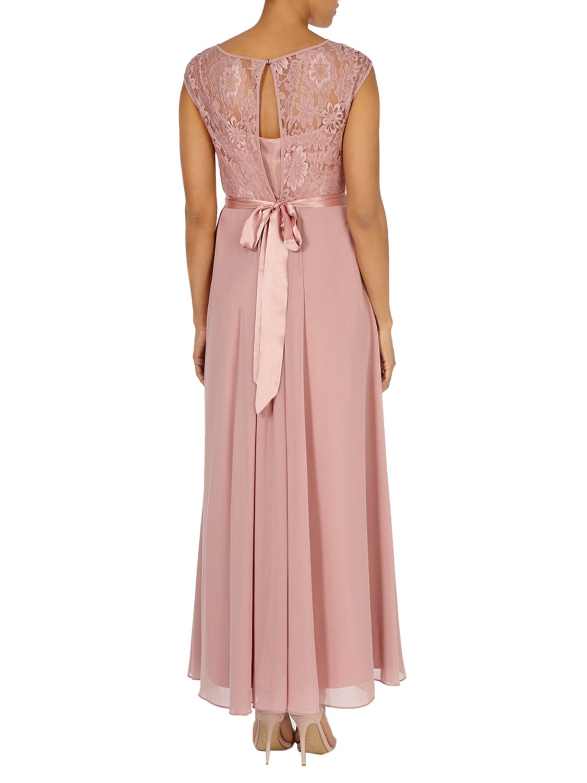 7699b752cf0 Coast Lori Lee Lace Maxi Dress in Pink - Lyst