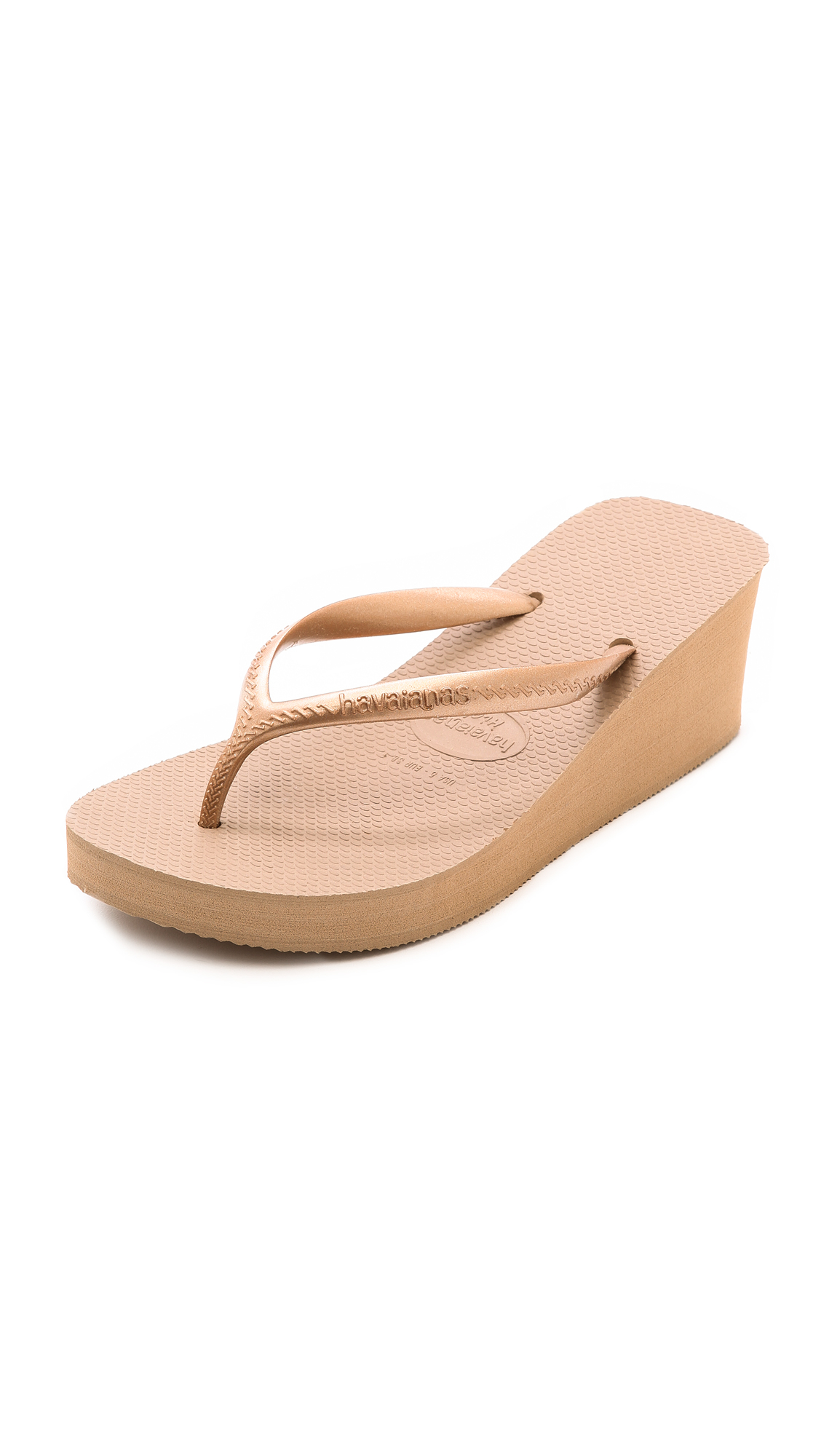6171f9582 Lyst - Havaianas High Fashion Wedge Flip Flops in Pink