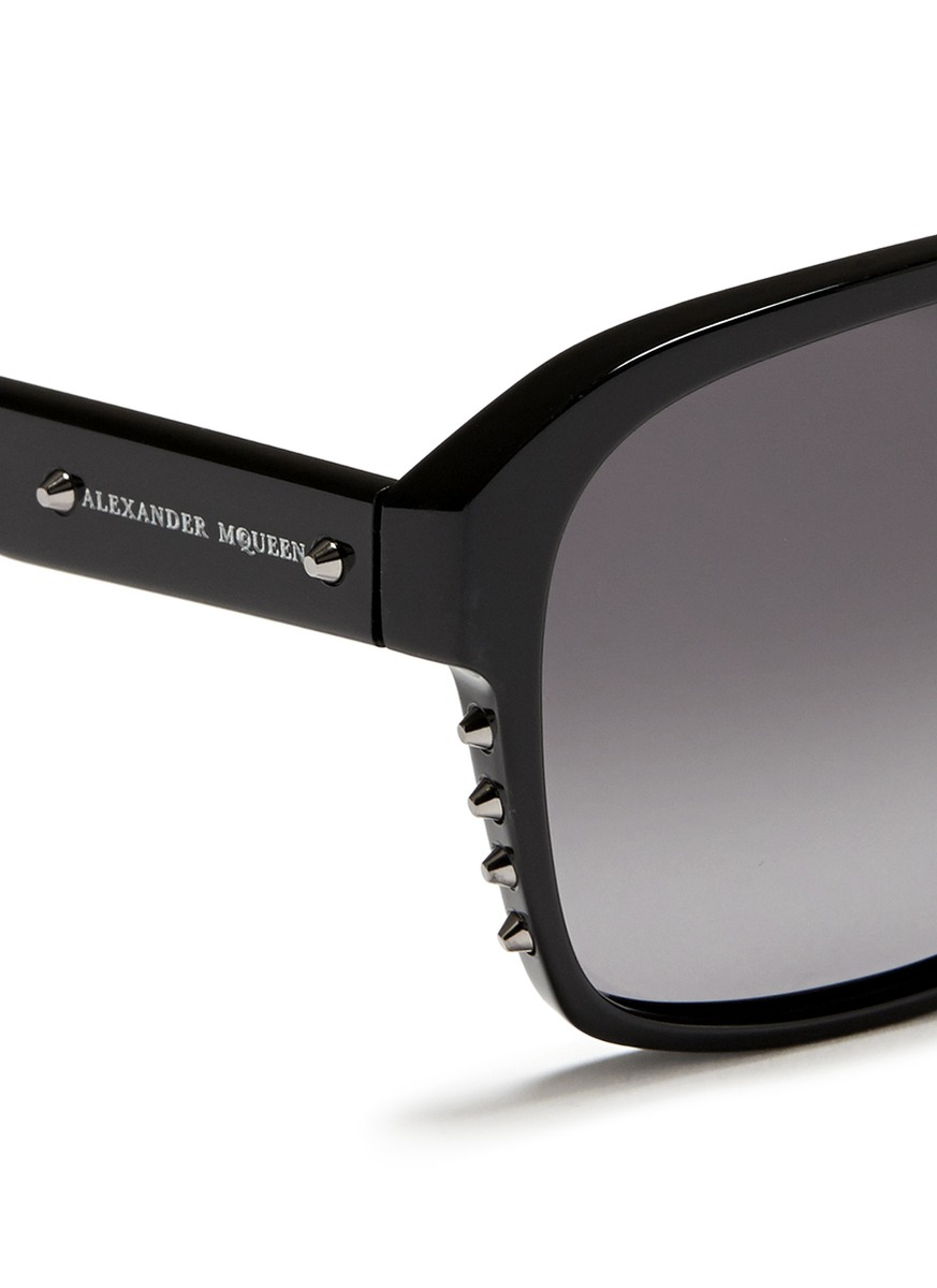 Mens Alexander Mcqueen Sunglasses  alexander mcqueen stud acetate sunglasses in black for men lyst