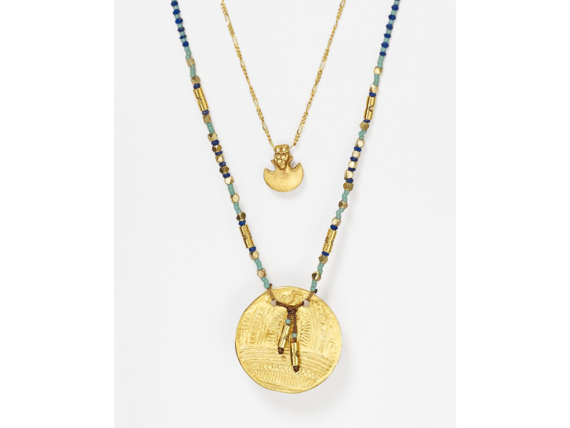 chan luu lapis pendant necklace 28 quot in metallic lyst