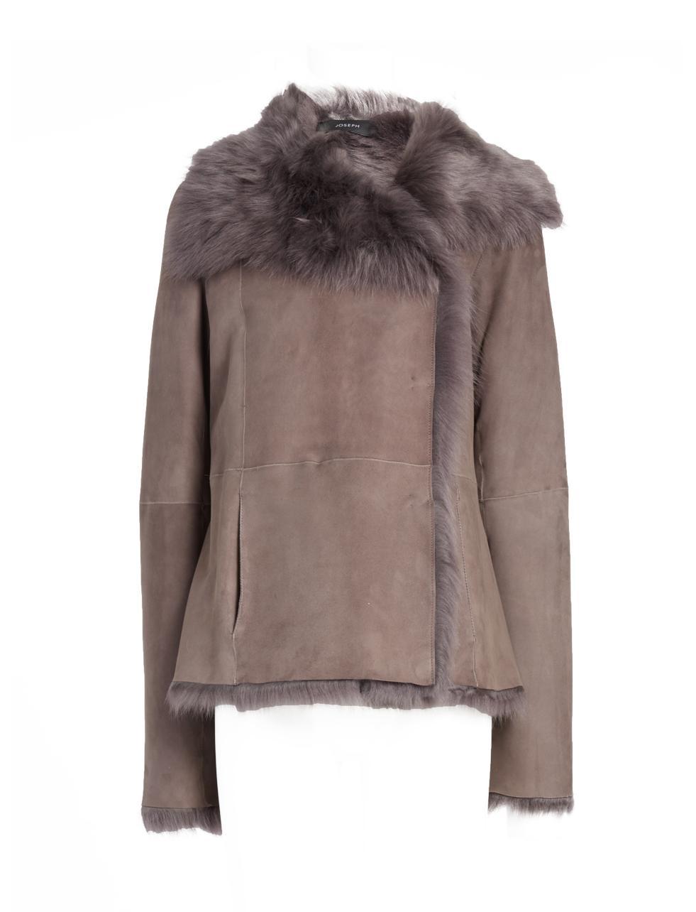 Joseph Toscana Anais Sheepskin Short Coat in Brown | Lyst