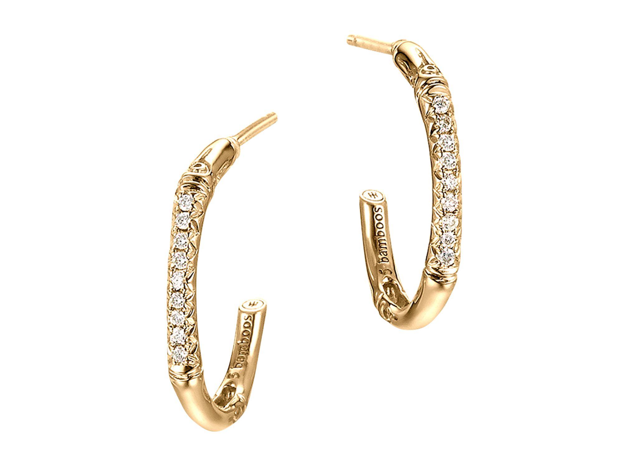 John Hardy Medium Diamond Pavé Hoop Earrings SxY5Ei