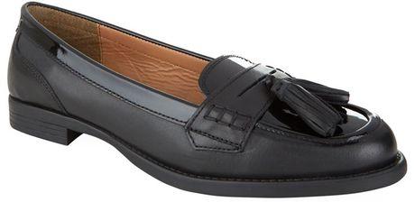 Carvela Kurt Geiger Lotto Patent Trim Loafer In Black | Lyst