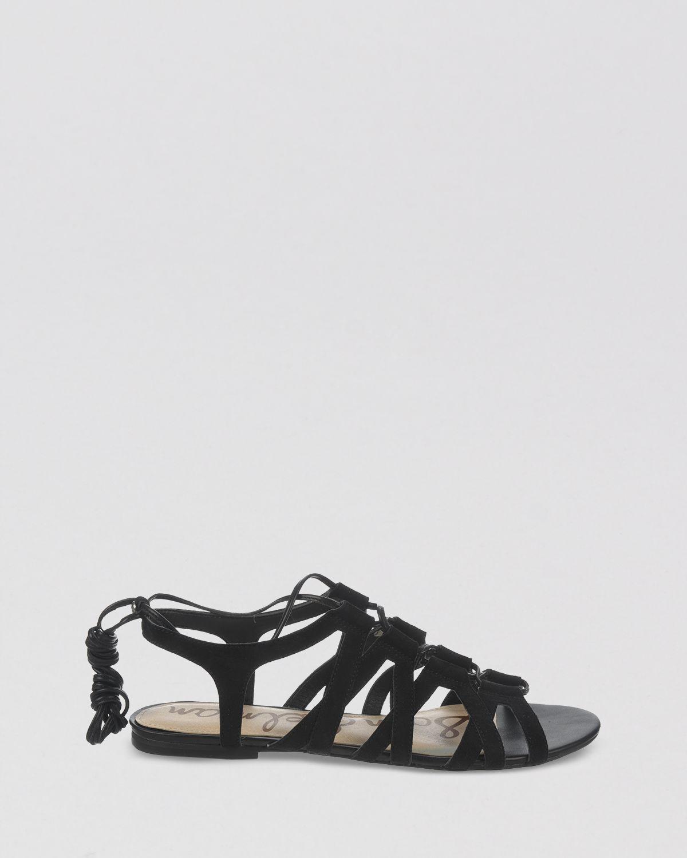 Sam Edelman Open Toe Flat Lace Up Gladiator Sandals Boyden
