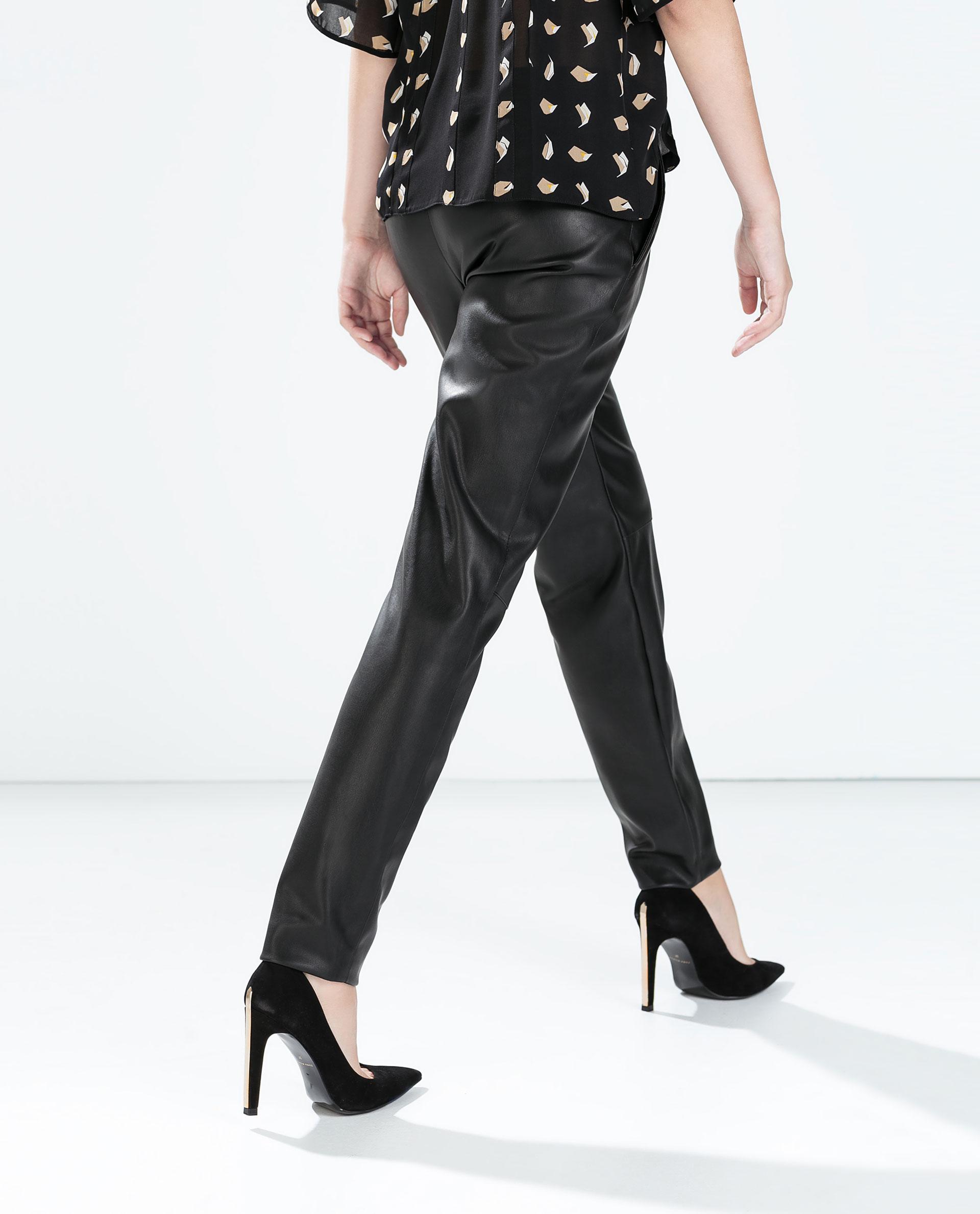 Model Women39s Black Leather Pants Women39s Faux Leather Pants