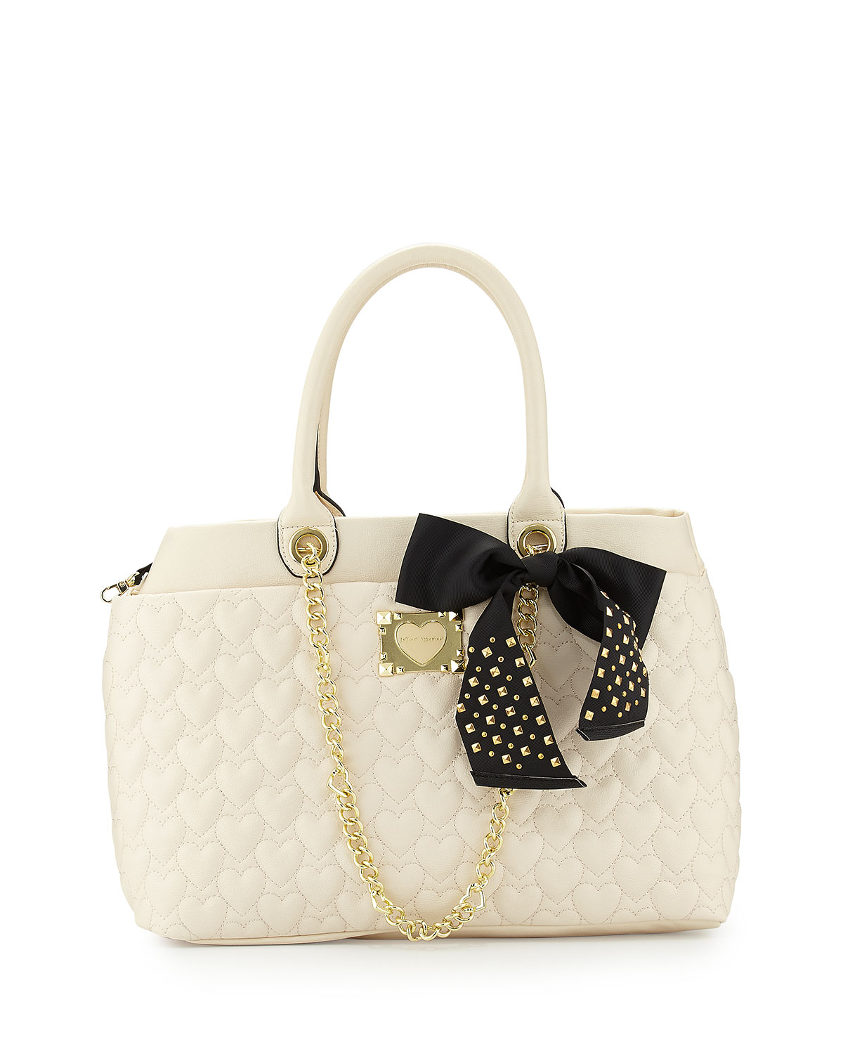 Betsey Johnson Heart Quilted Tote Bag In Natural Lyst