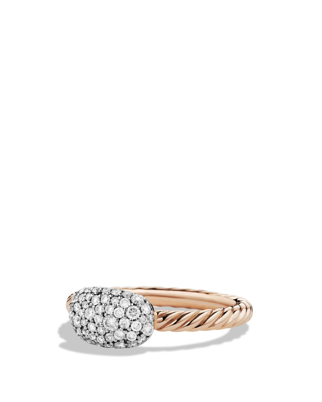 David yurman petite pav cushion ring with diamonds in for David yurman inspired jewelry rings