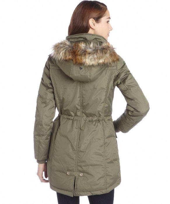 Sam edelman Olive Down Faux Fur Anorak Coat in Green | Lyst