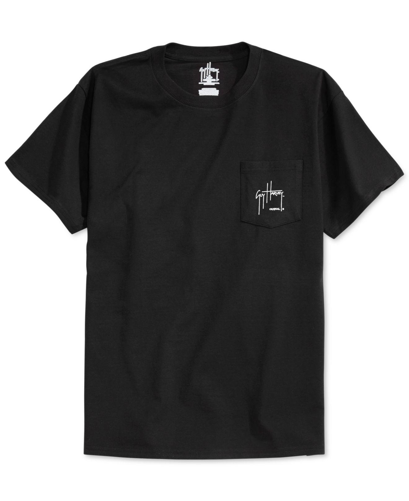Lyst Guy Harvey Hydro Pocket T Shirt In Black For Men