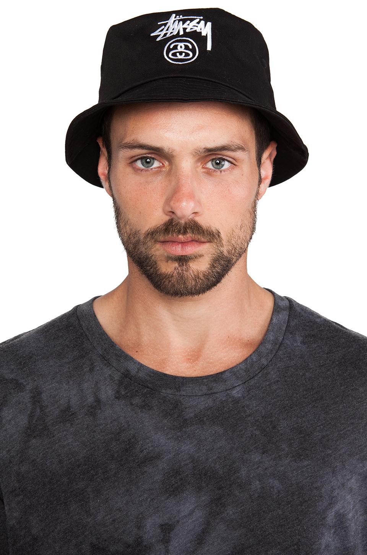 8470e4920ae Lyst - Stussy Stock Lock Bucket Hat in Black for Men