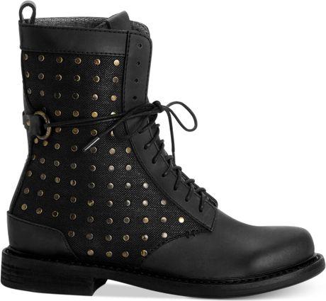 Calvin Klein Ck Jeans Womens Boots Cassey Combat Booties