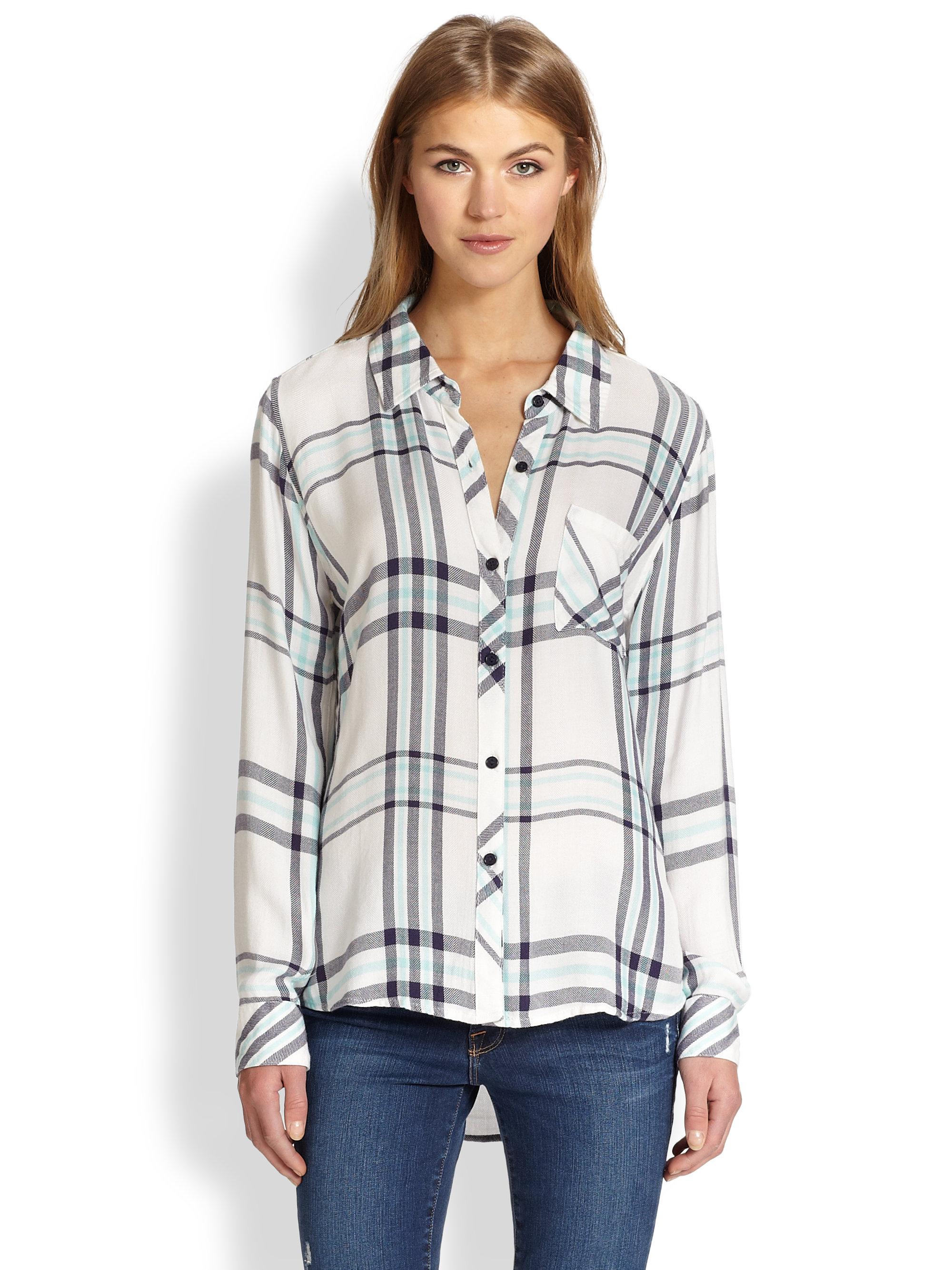 Lyst Rails Hunter Plaid Buttondown Shirt In White
