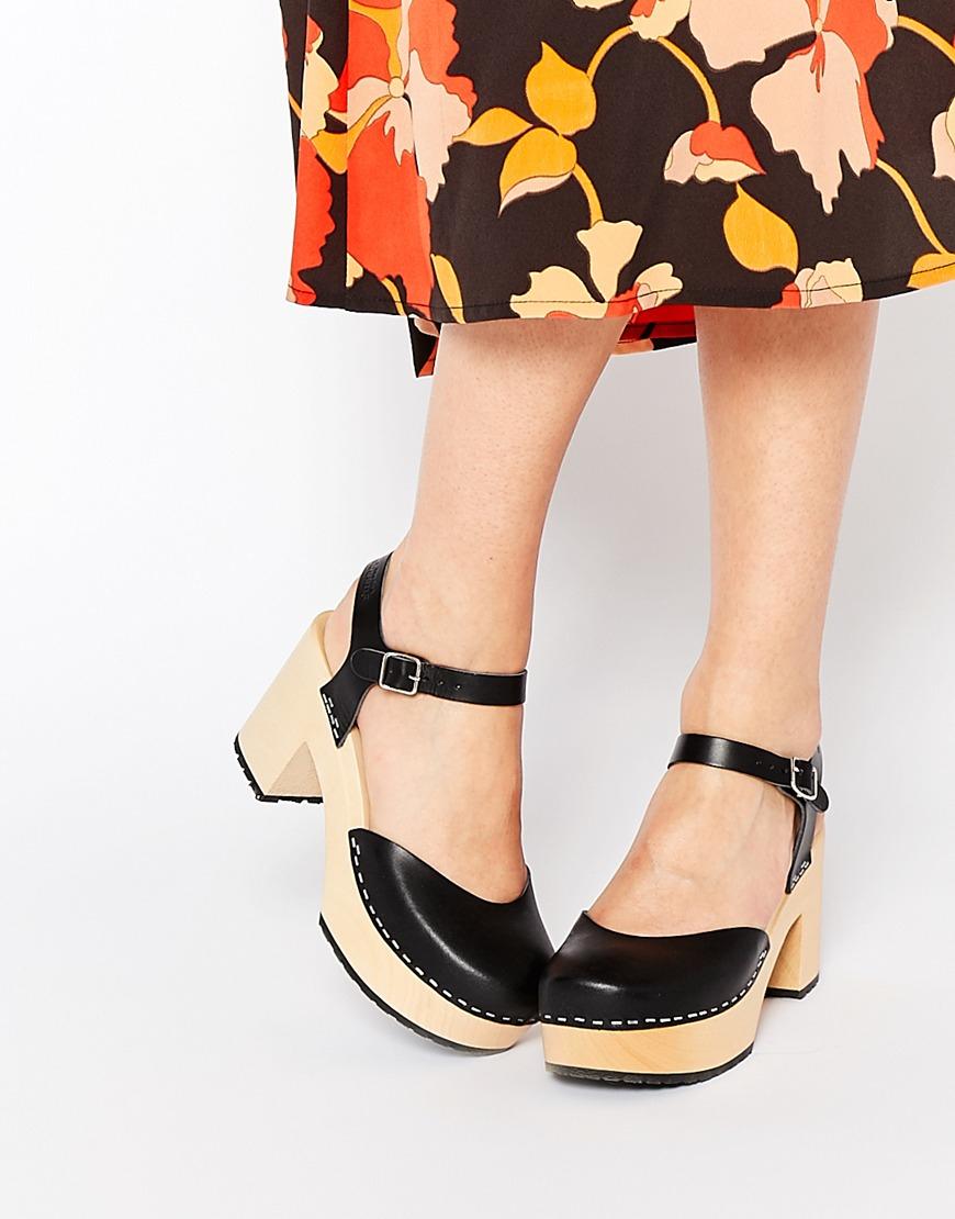 Lyst Swedish Hasbeens Krillan Cover Toe Mid Heel Sandals