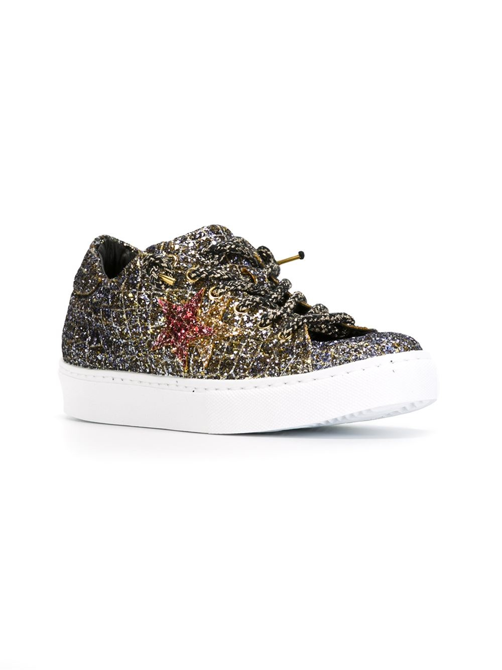 Lyst - 2Star Glitter Sneakers in Metallic a531689cf3