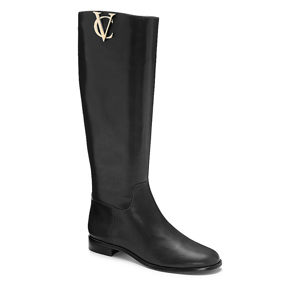 32e1772f6ee Lyst - Vince Camuto Vc Signature Rena- Metal Logo Riding Boot in Black