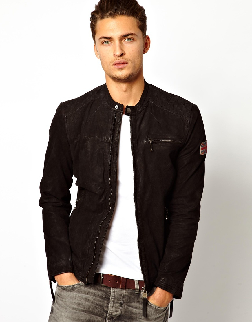 Pepe Jeans Junior Boy: Pepe Jeans Pepe Leather Biker Jacket Gig Slim Fit