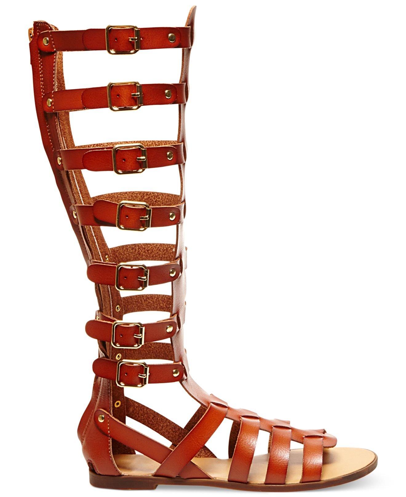 1b801cbedf9e Lyst - Madden Girl Penna Tall Gladiator Sandals in Brown