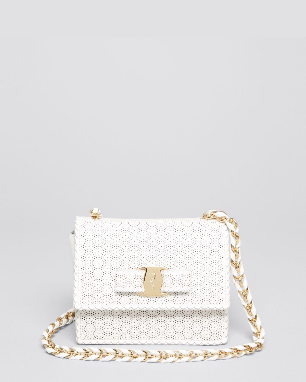 Lyst - Ferragamo Crossbody - Ginny Lace Mini in White a81edabf39207