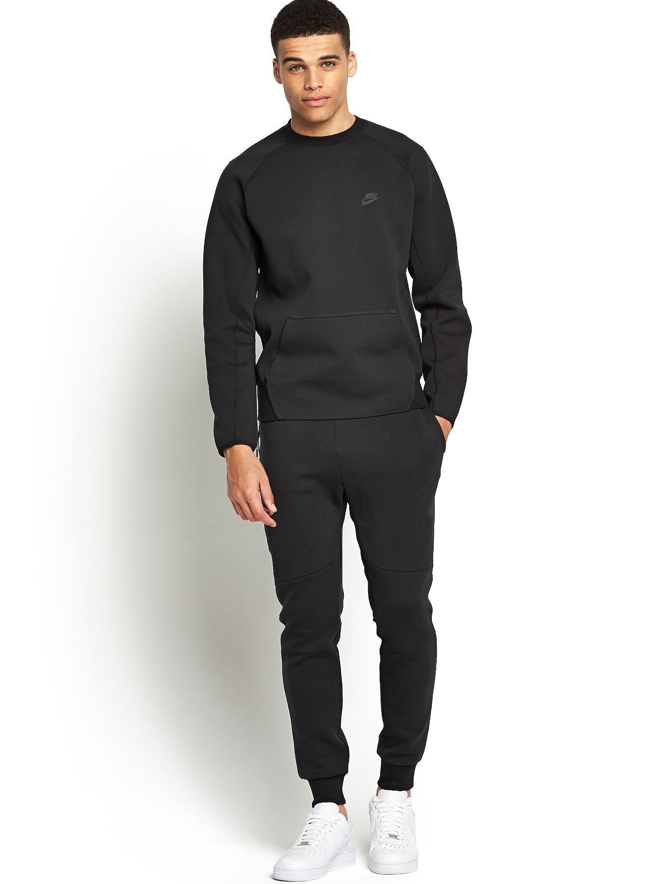 nike-black-mens-tech-fleece-crew-neck-sweatshirt-black-product-1