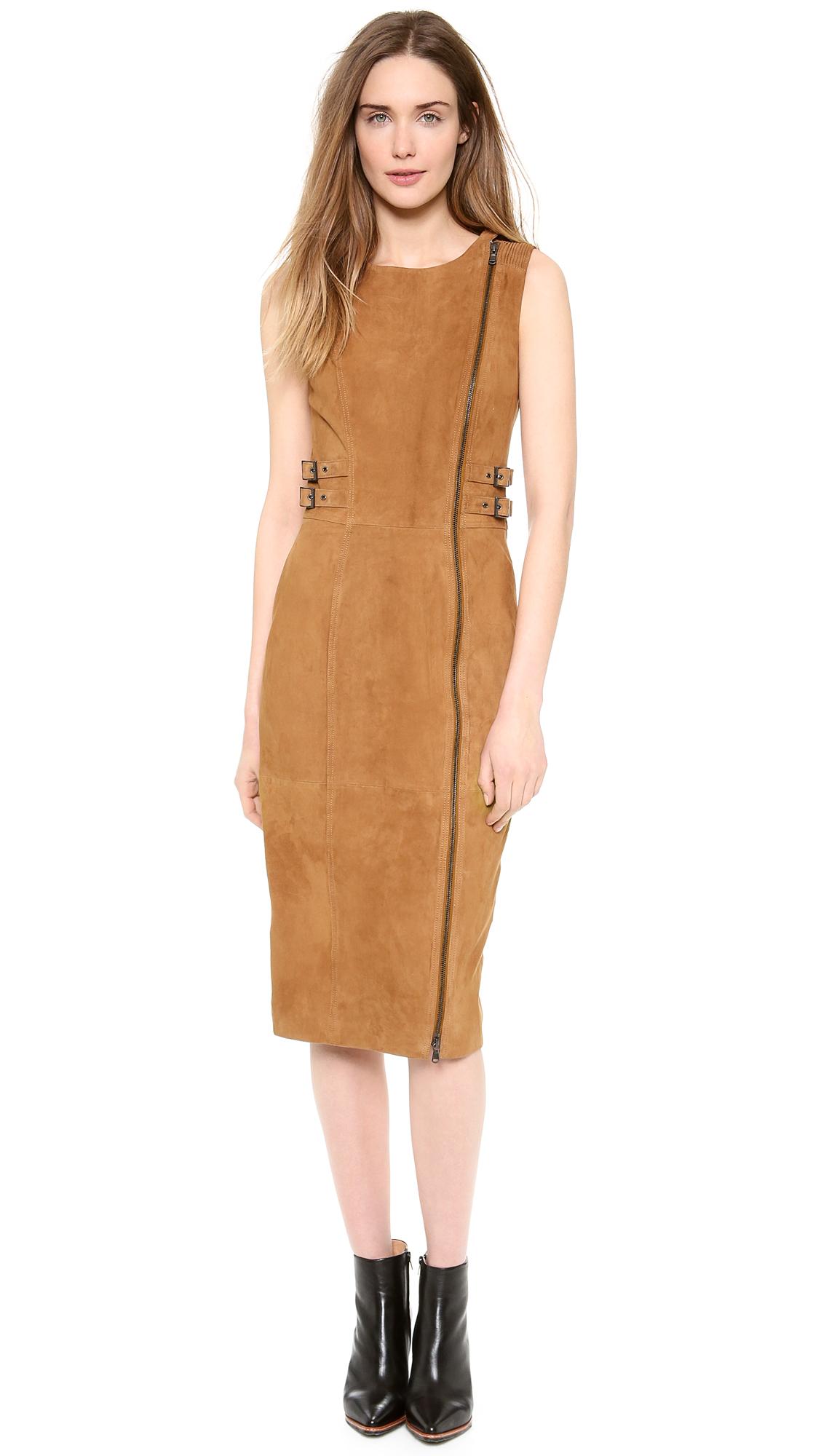 Платье из тонкого замша