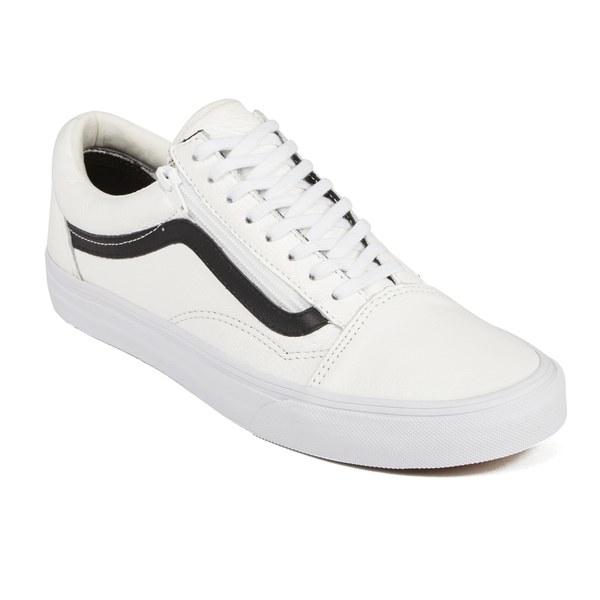 c9274de3129029 Vans Men s Old Skool Zip Premium Leather Trainers in White for Men - Lyst