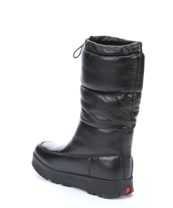 Prada Sport Black Quilted Leather 'Bomber' Platform Snow Boots in ...