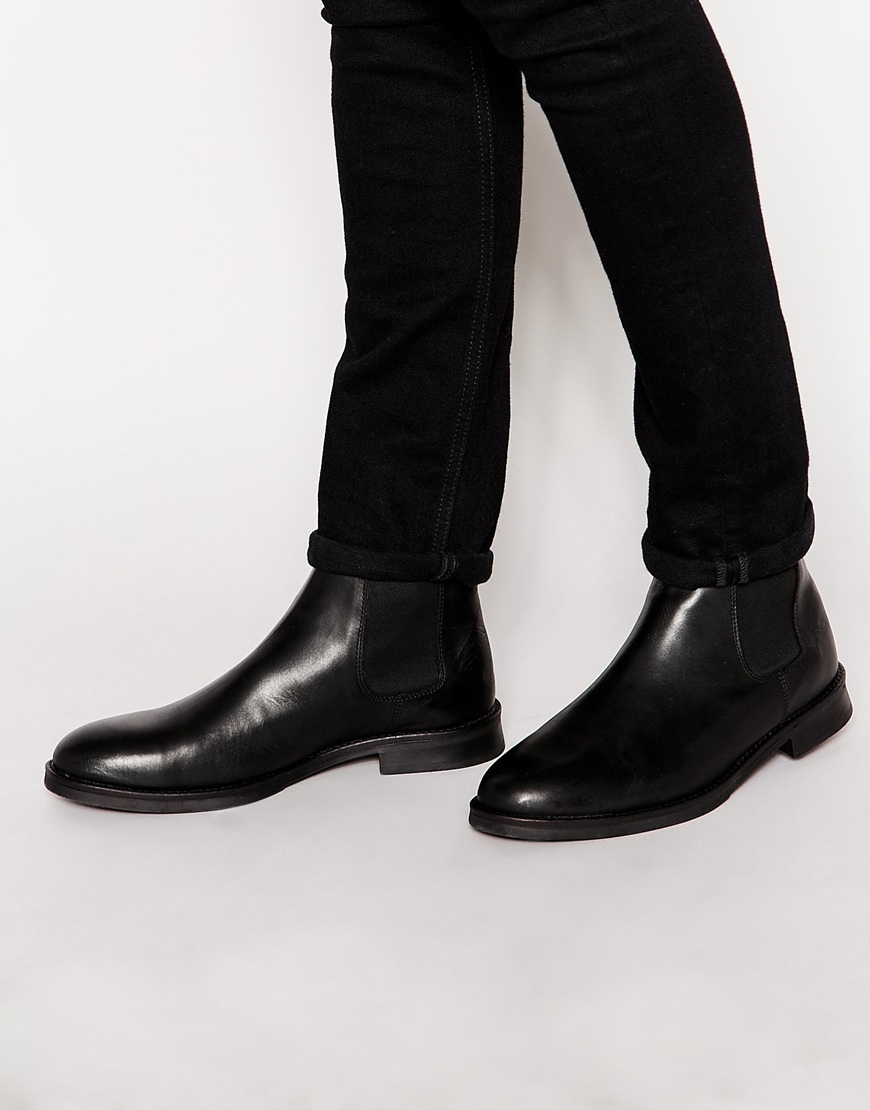 Leather Chelsea Boots - Black Selected uT0L3g