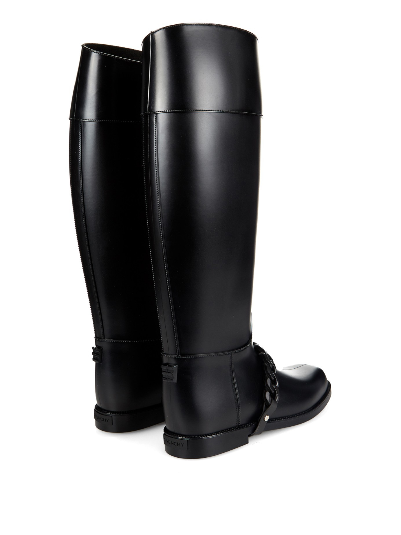 Givenchy Eva-Chain Rubber Rain Boots in Black | Lyst
