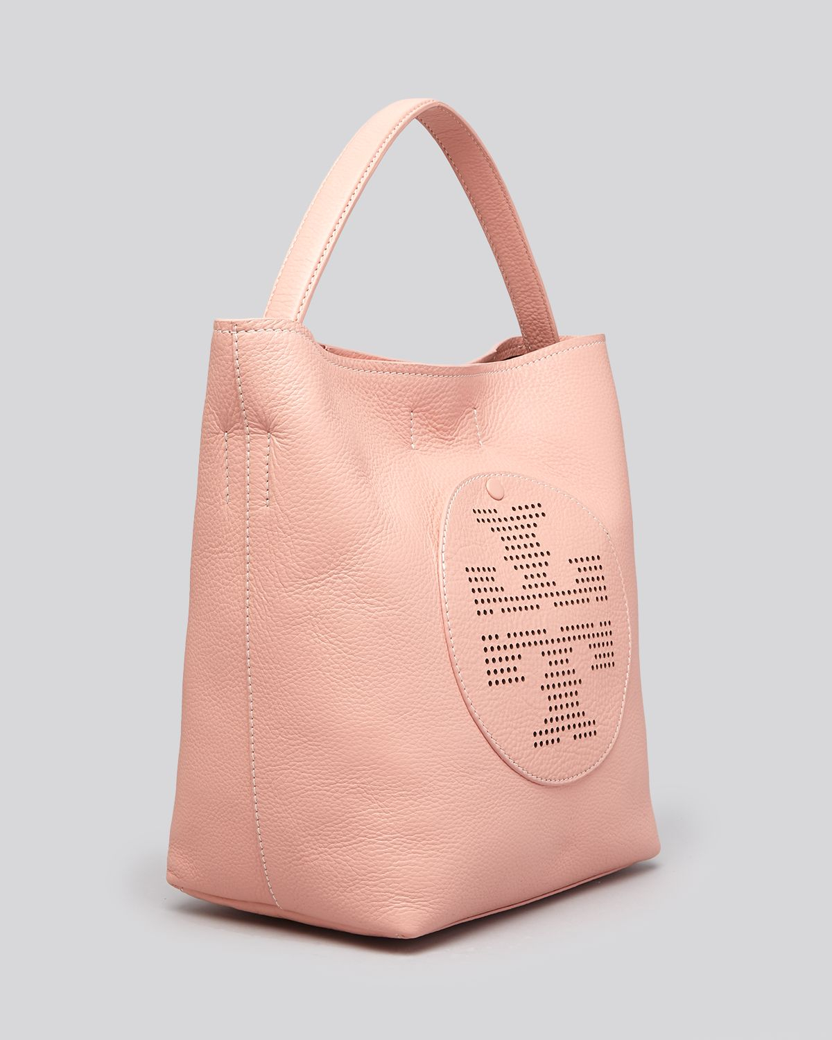 Tory burch Hobo Quinn Perforated Logo in Pink | Lyst