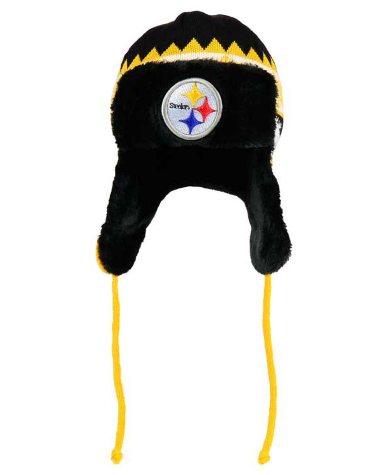 Lyst - KTZ Pittsburgh Steelers Moose Trapper Knit Hat in Yellow for Men 23f0e4528