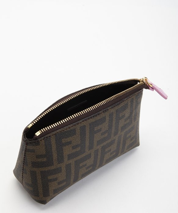 81af950a4b Fendi Tobacco Zucca Coated Canvas And Lavender Leather Cosmetic ...