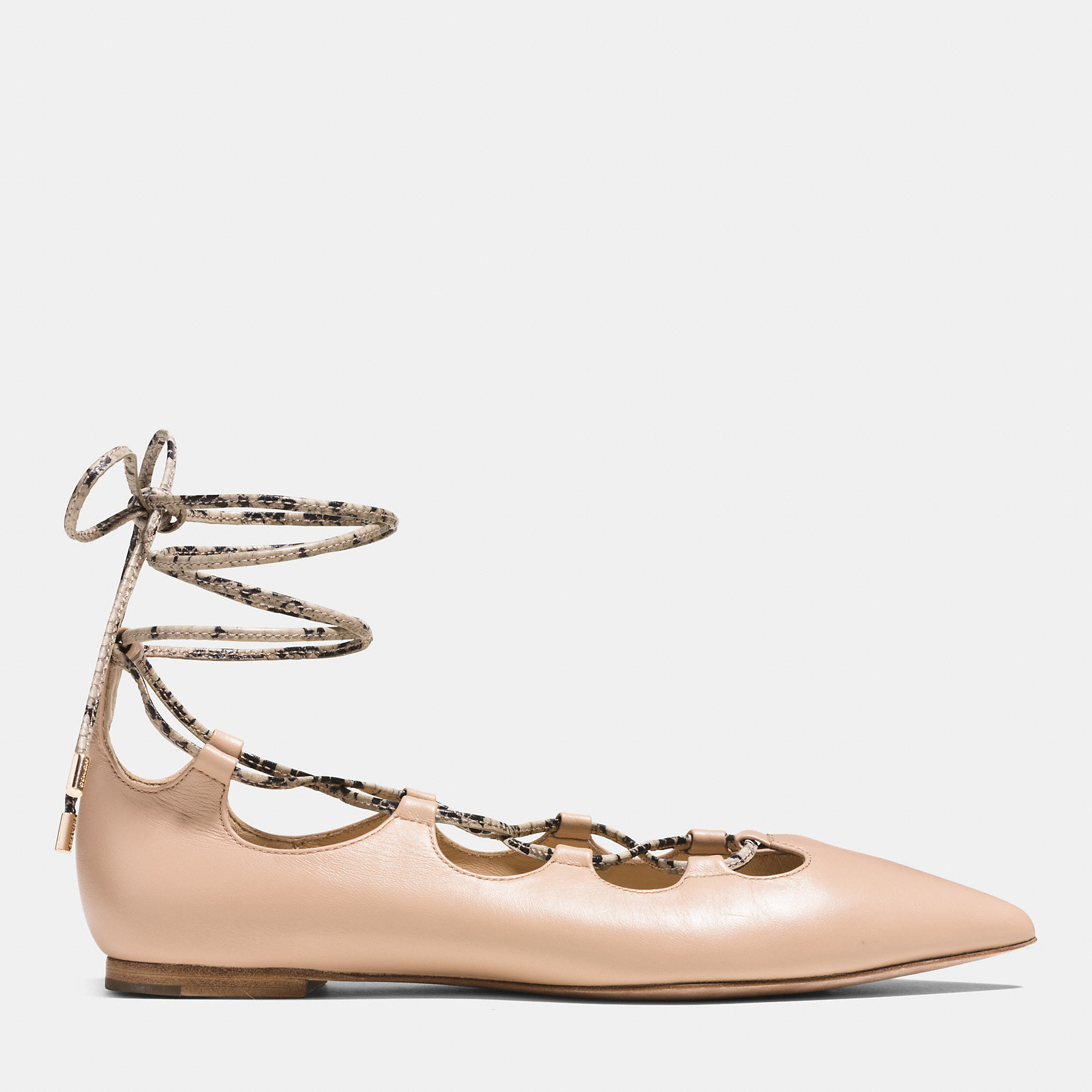 Coach Justine Leather Flats from china free shipping low price cheap discount authentic visit sale online cheap sale shop offer discount ebay uWa0OW