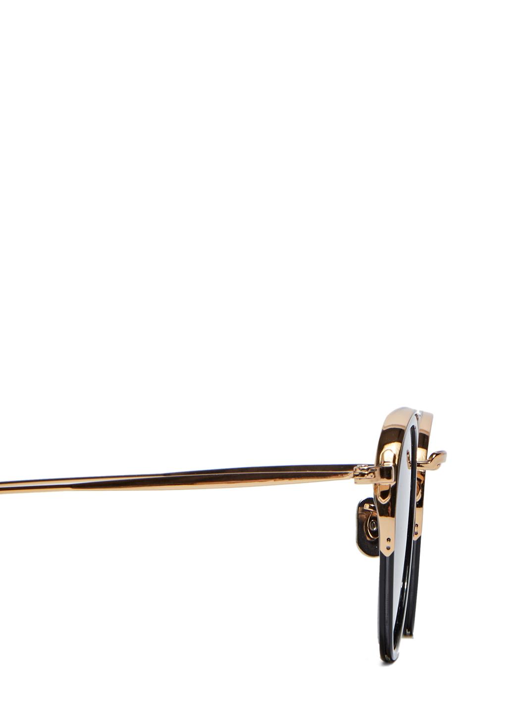 c3bcf8bdcbb Lyst - Eyevan 7285 Unisex Sunglasses Model 732 In 1002 Black And ...