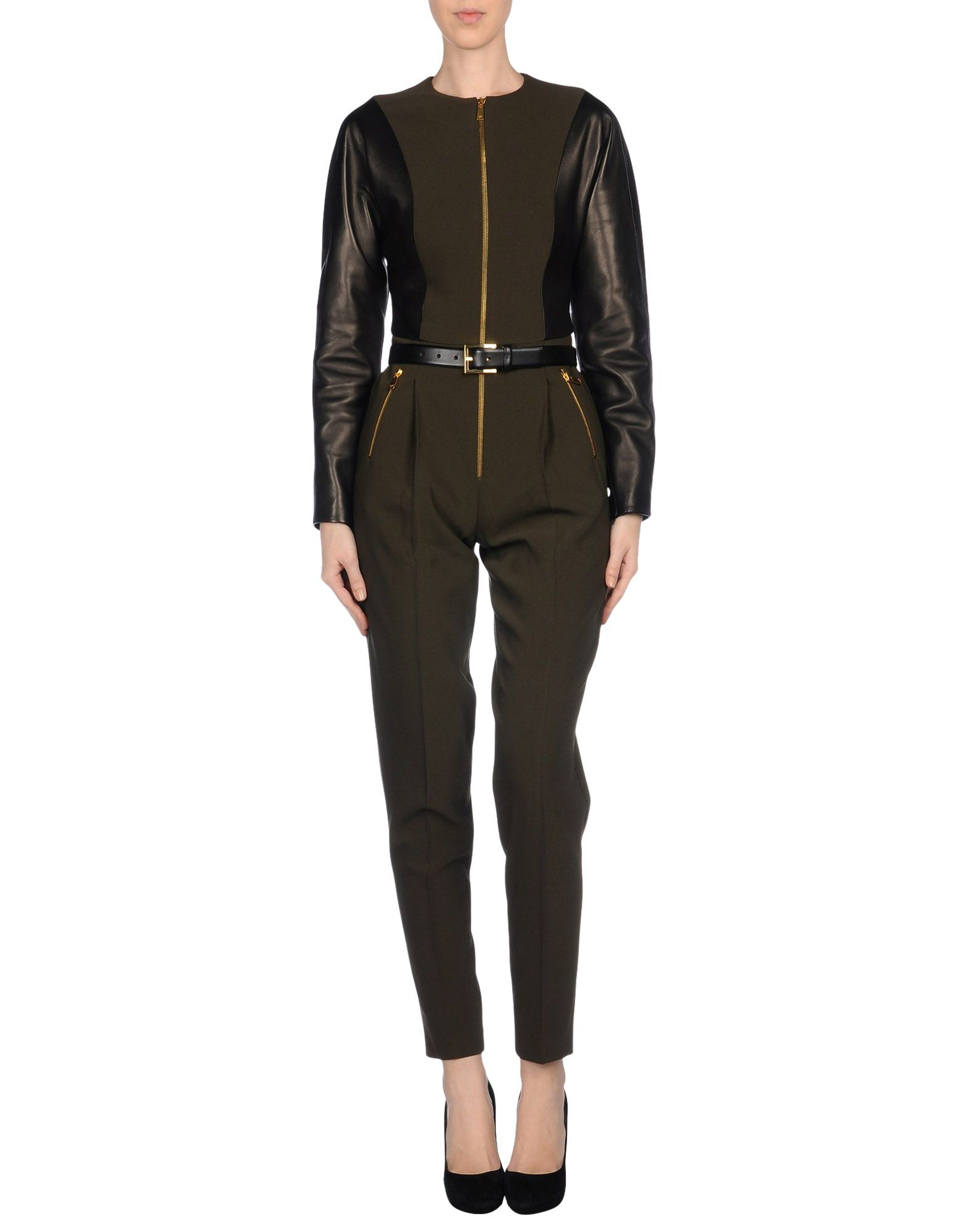michael kors trouser dungaree in green military green lyst. Black Bedroom Furniture Sets. Home Design Ideas