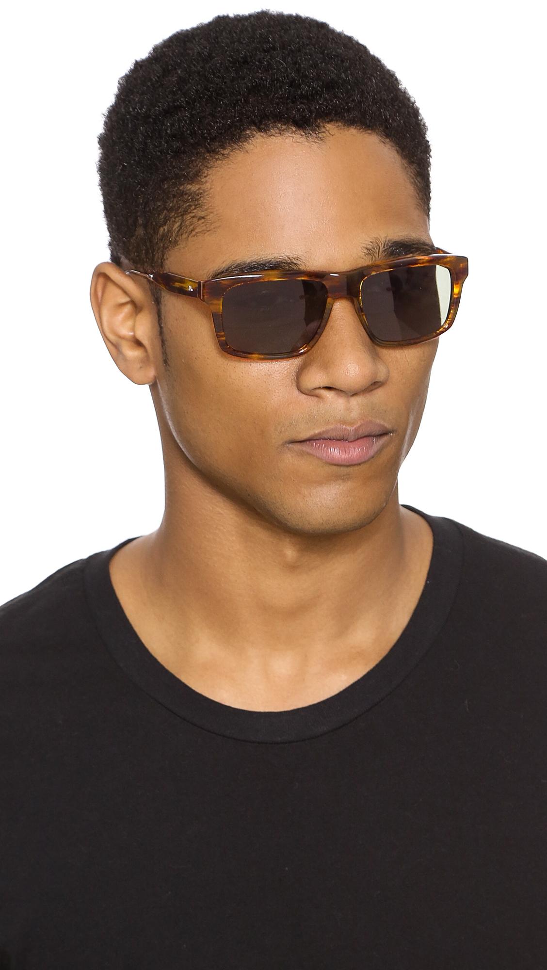 Oliver Peoples Gaviota Polarized Sunglasses In Brown For
